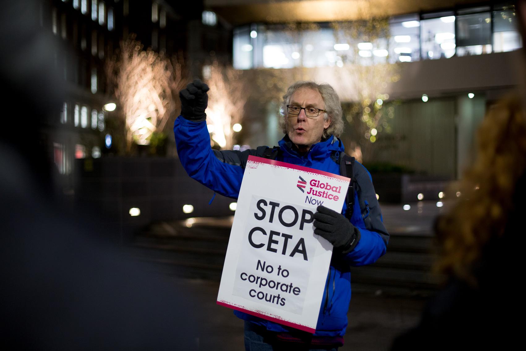 Demonstratie tegen CETA