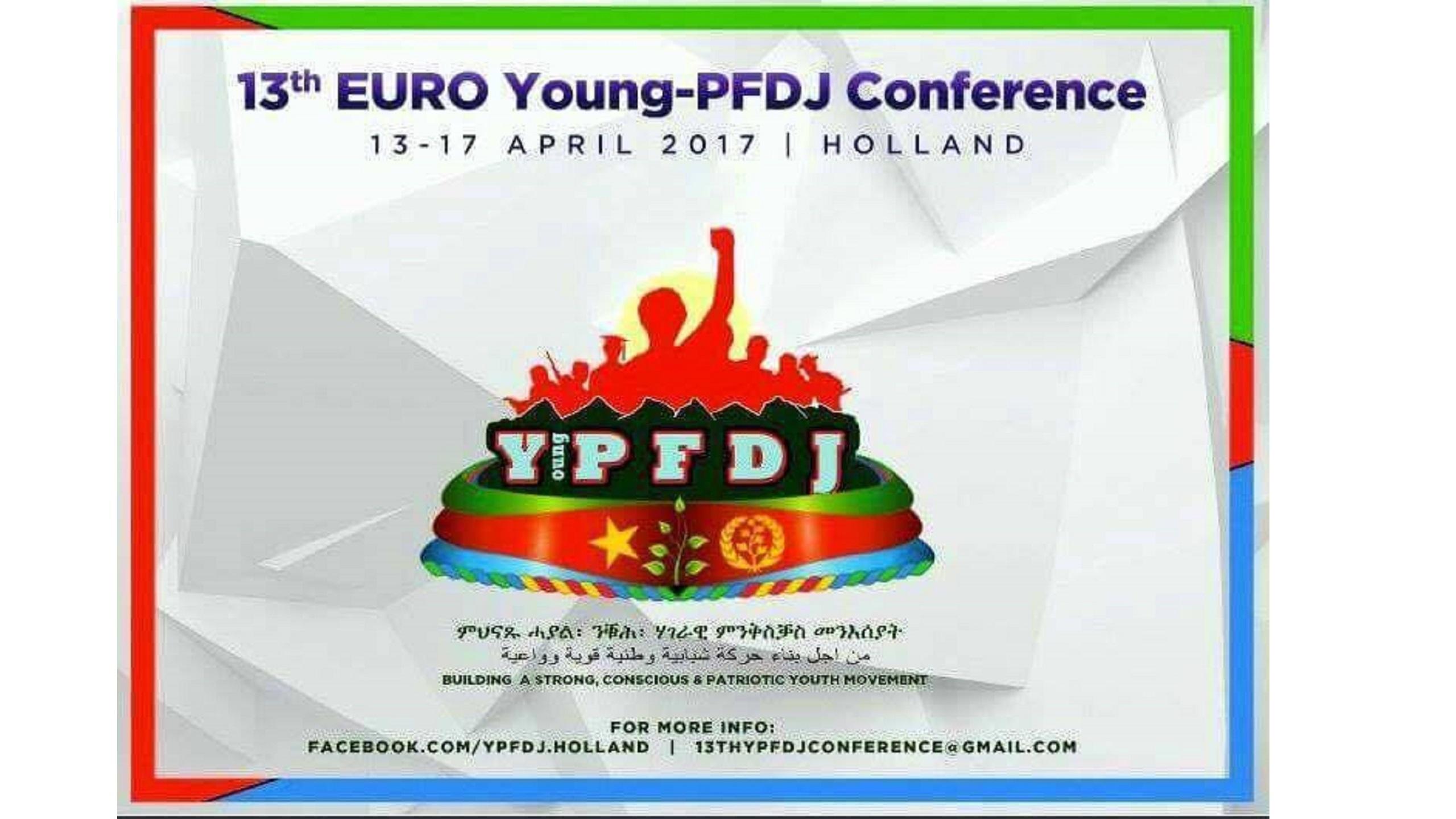 Aankondiging YPFDJ conferentie op Facebook