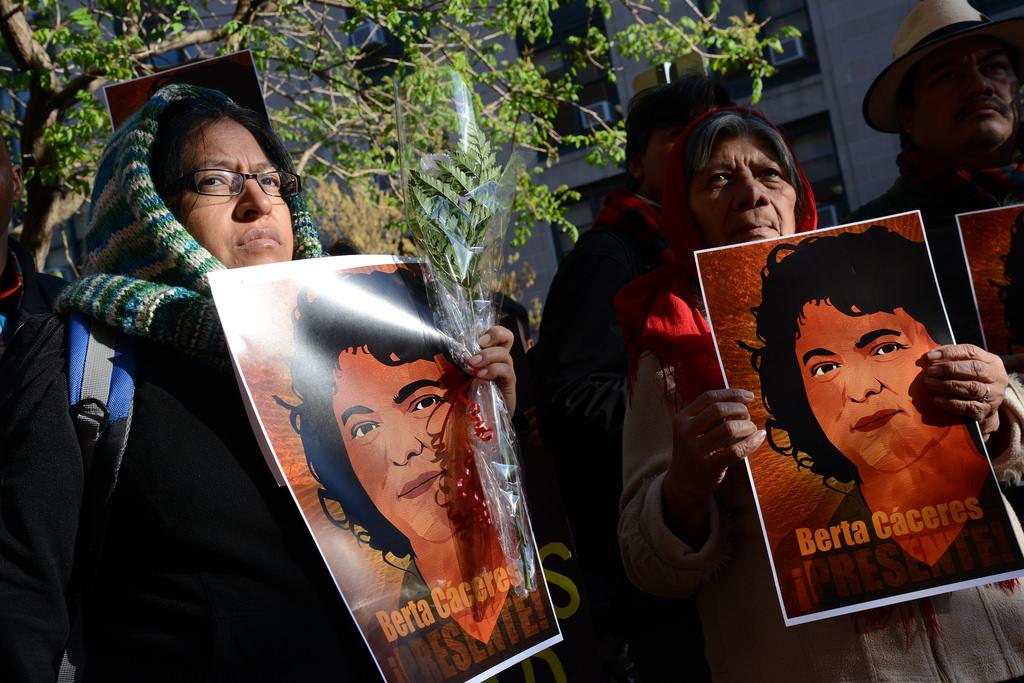 Manifestatie Berta Cáceres