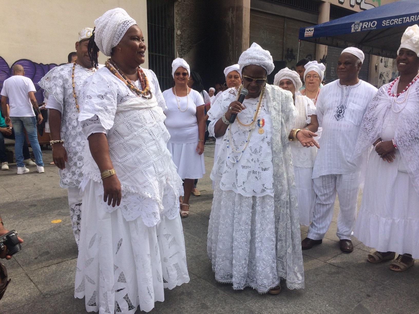 Maes de santo, priesteressen van candomblé Brazilie