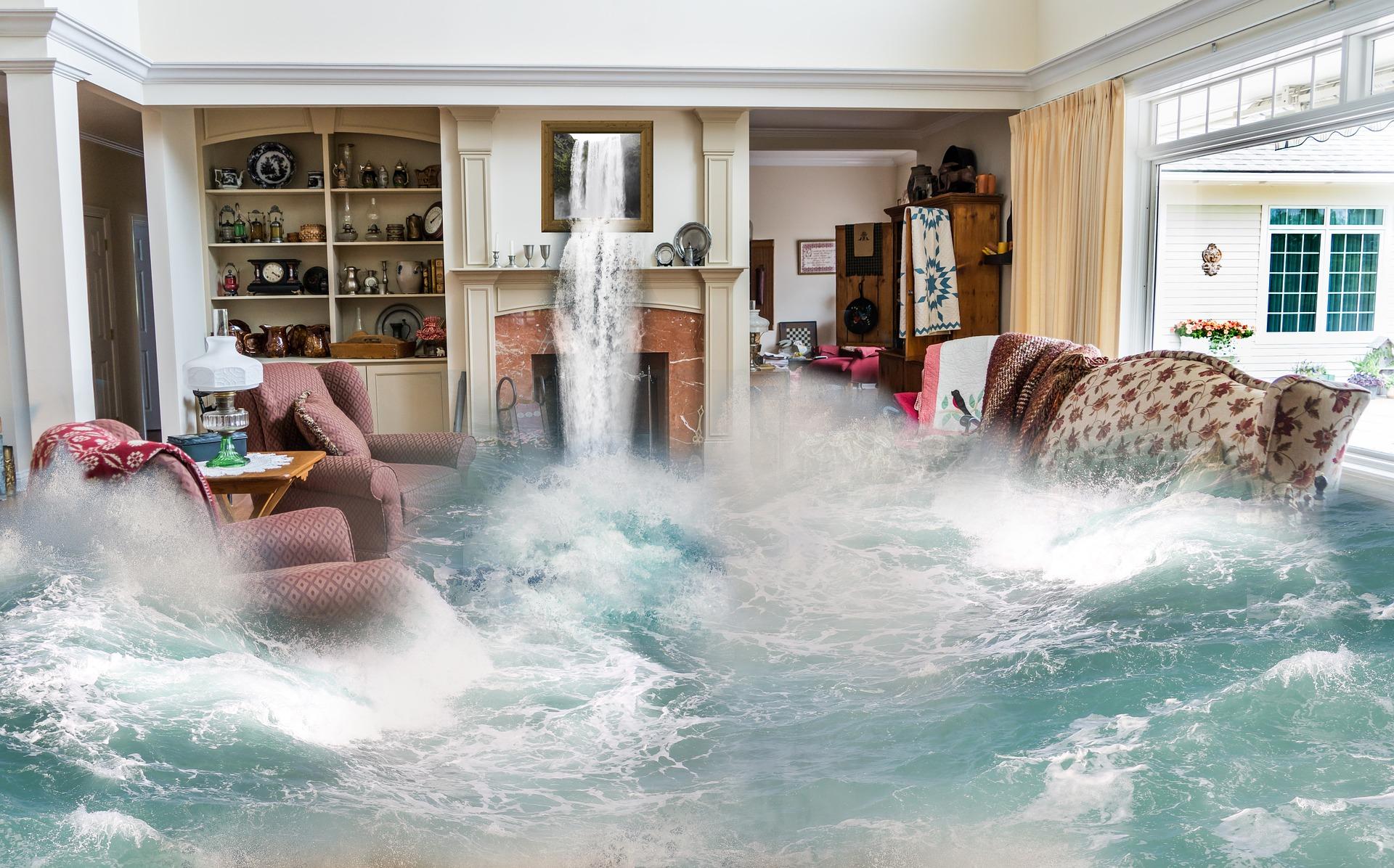 Design Fantasy Flooding Living Room Surreal