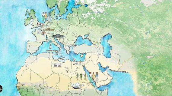De route van Eritrea naar Nederland
