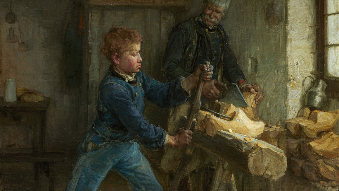 De Jonge Klompenmaker, door Henry Ossawa Tanner