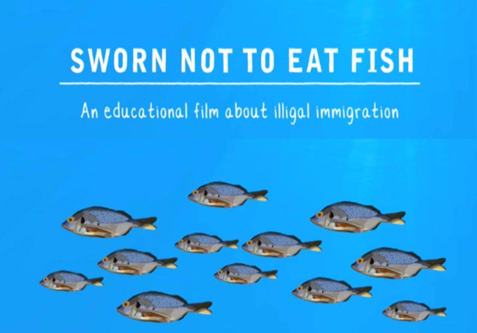 Sworn not to eat fish.