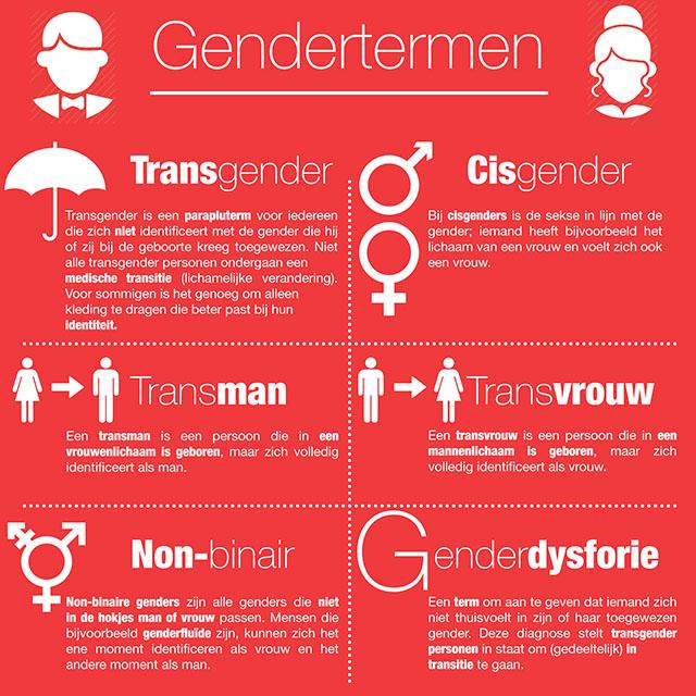Visualisatie Gendertermen
