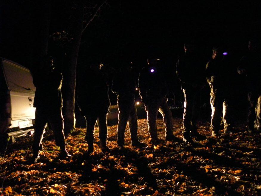 Nachtelijke ontmanteling van de blokkade aan de Woeste gang