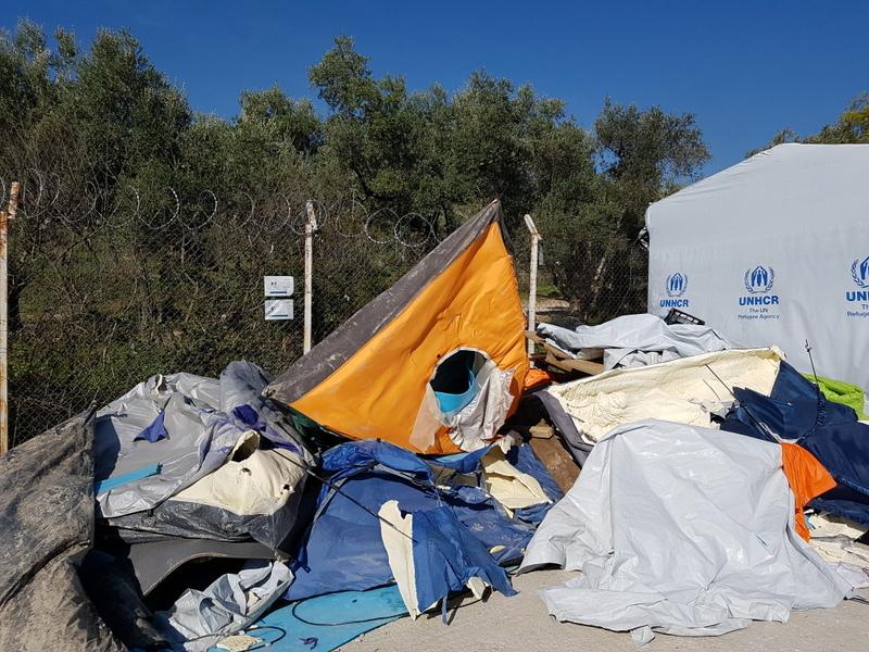 Moria – tenten maart 2017