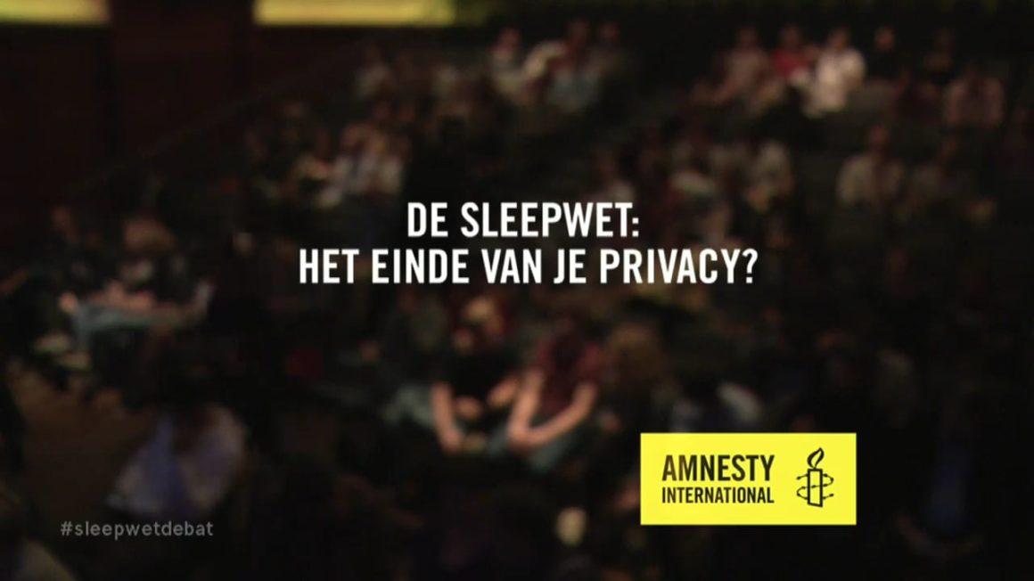 Poster Amnesty tegen de sleepwet