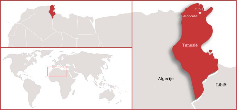 tunesie kaart
