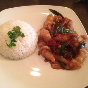 Tamarind Fish with boiled rice