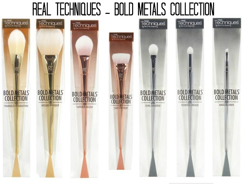 Real Techniques Bold Metals Collection Onin London