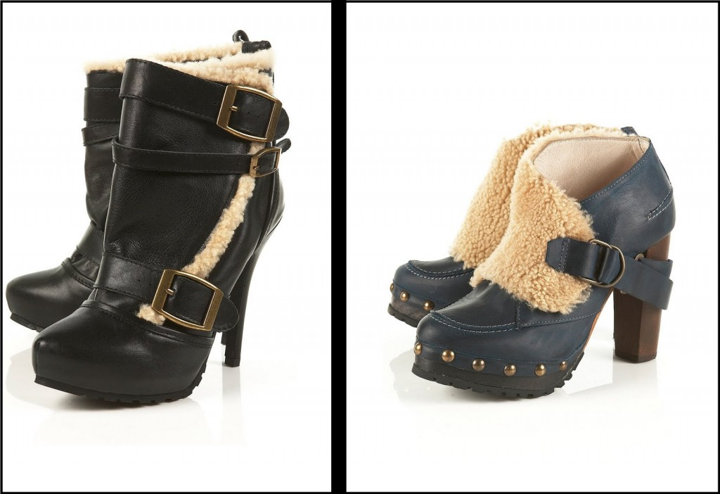 Topshop Amore Shearling ankle boot