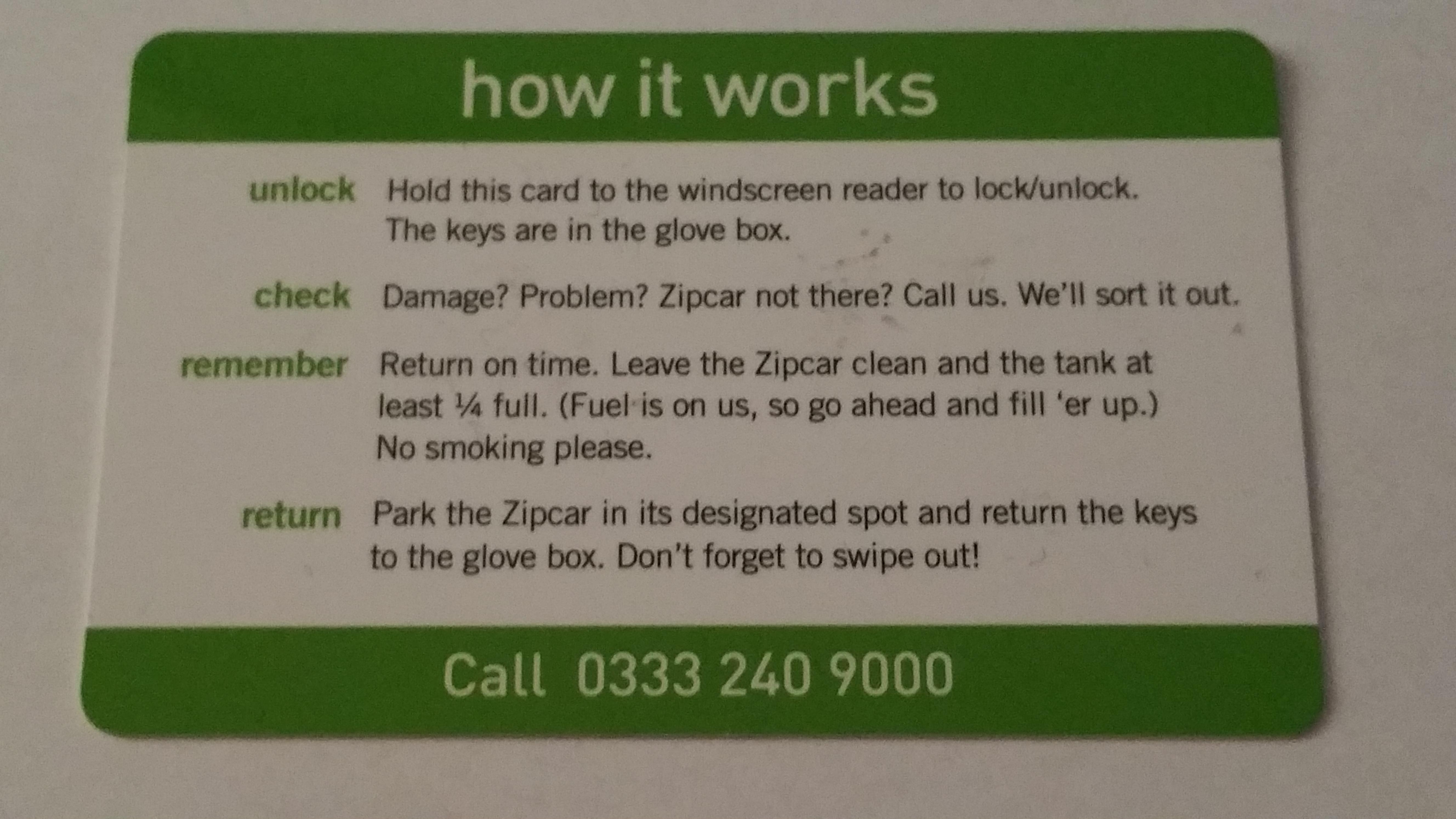 The benefits of hiring a Zipcar | ONIN London