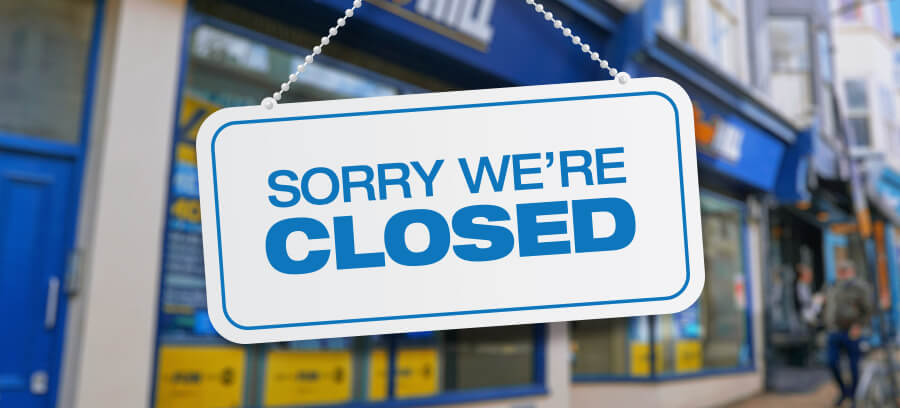 William Hill Closing Shops