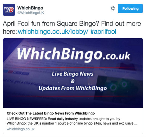 WhichBingo Twitter Post