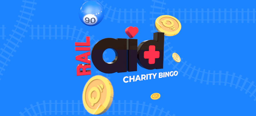 RailAid charity bingo with MrQ