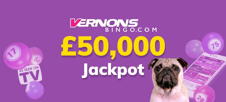 50k jackpot at vernons