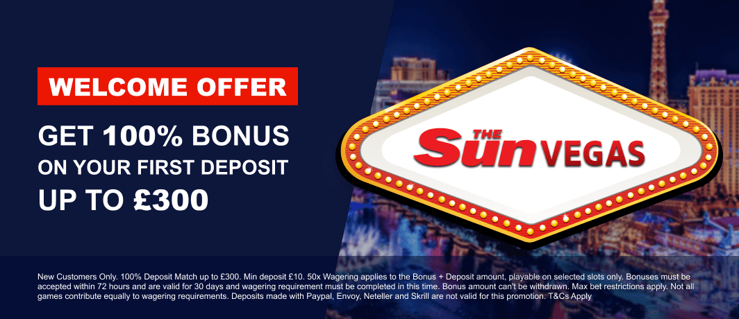 Sun Vegas Homepage Banner