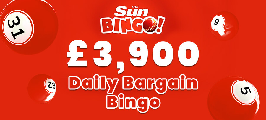sun bingo daily bargain bingo