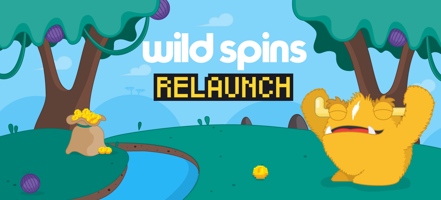 wild spins relaunches with a retro style