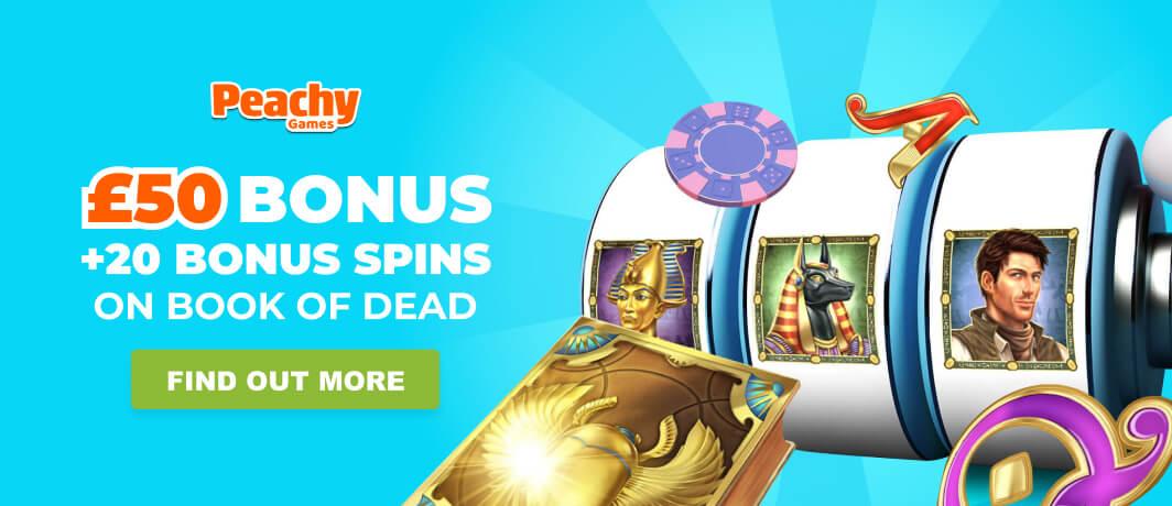 Peachy games homepage banner