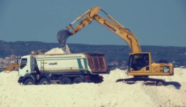 White Salt Being Loaded