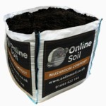 Mushroom Compost Bulk Bag With Logo