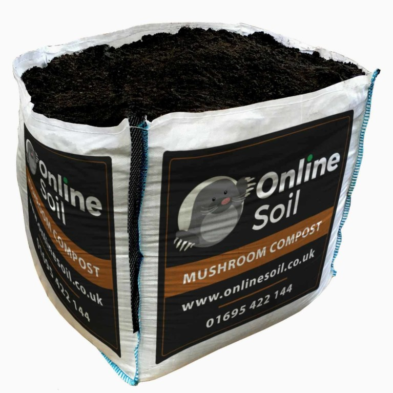 Mushroom Compost Bulk Bag With Logo
