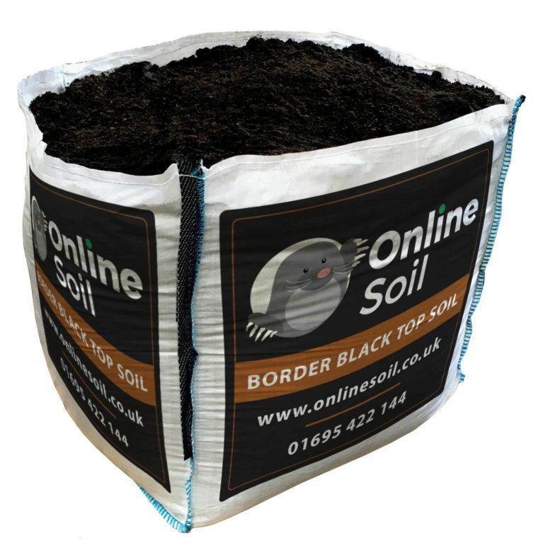 Border black topsoil