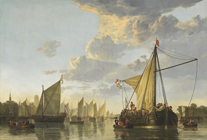 De Maas biij Dordrecht, ca. 1650