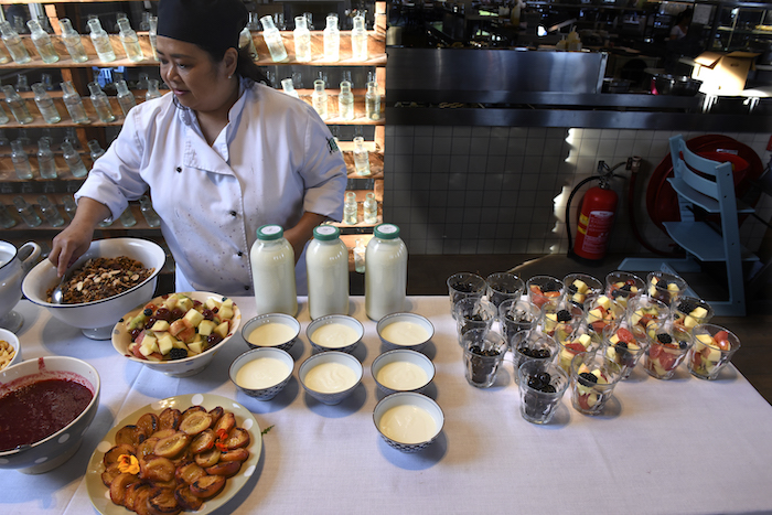 Ontbijtbuffet in Villa Augustus