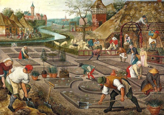 Een van Jelles favoriete schilderingen van een tuin: 'Printemps' van Abel Grimmer, 1570/77-1619
