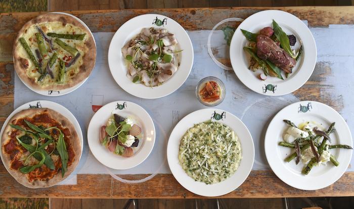 Een selectie van gerechten op de nieuwe kaart