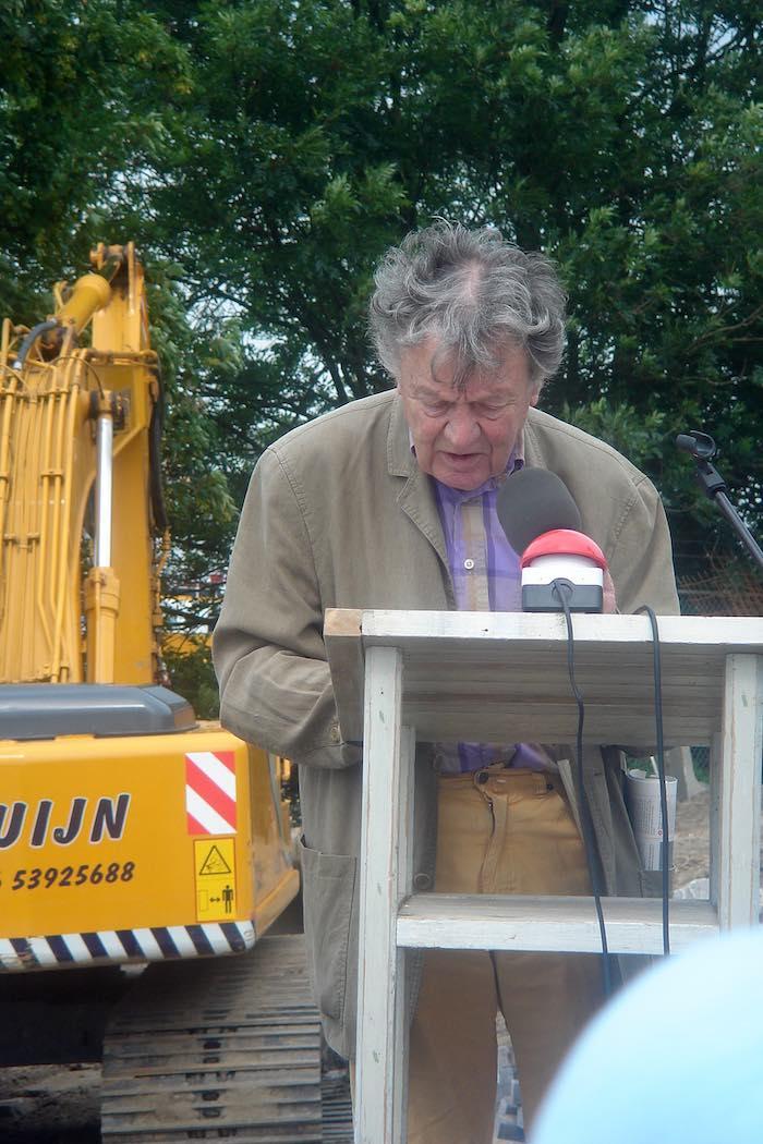 Jan Eijkelboom tijdens de opening van Villa Augustus in 2007