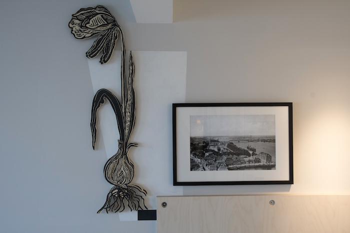 Werk van Ondine in de waterkamers van Villa Augustus