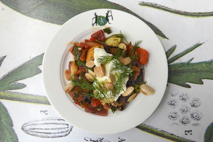 Ratte-aardappeltjes à l'Alsacienne met chorizo en uien
