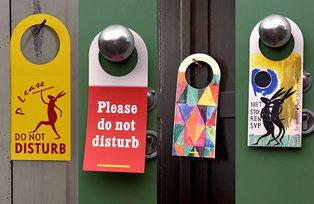 'Niet storen s.v.p.'-deurhanger