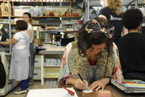 Natalie Lete Tijdens Opening Galerie Herfst 2014 Tot Ries Van Wendel De Joode