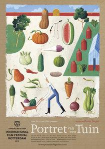 Affiche voor 'Portret van een Tuin' - Illustratie: Martin Jarrie