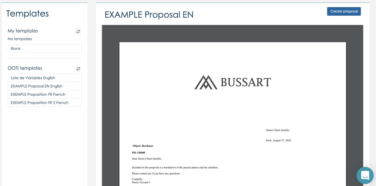 Proposition et contrat PDF