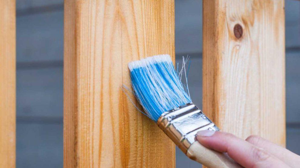 كيفية دهان الخشب لاكيه