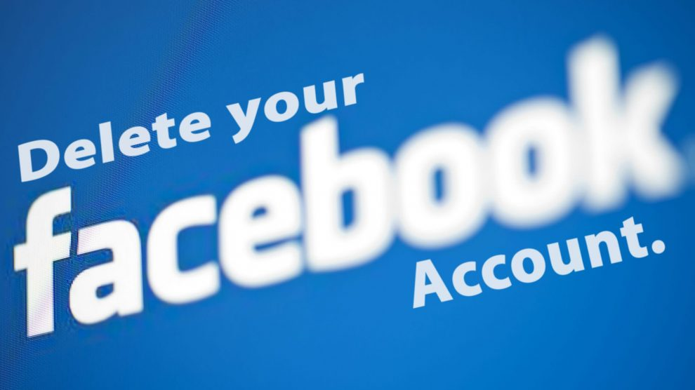 حذف حساب من الفيس بوك