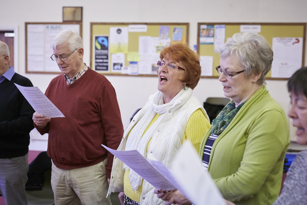 A Sing ON singing group