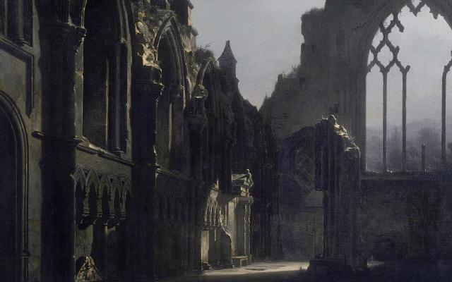 The Ruins of Holyrood Chapel by Louis Daguerre (detail), oil on canvas, 1824 © Walker Art Gallery Liverpool