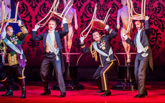 Geoffrey Dolton as Baron Zeta, Nicholas Butterfield as Bogdanovitch, Alex Otterburn as Cascada, Dean Robinson as Kromov, Alex Banfield as St Brioche and Jeremy Peaker as Pritschitch © Robert Workman