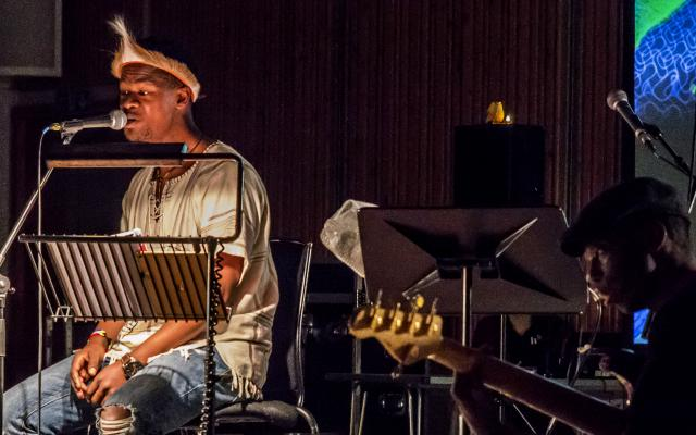 Thandanani Gumede and collaborators performing their Resonance showcase © Opera North
