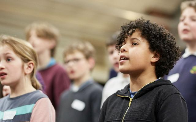 Opera North Children's Chorus in rehearsal © Justin Slee