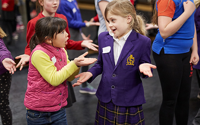 Opera North Childrens Chorus in rehearsal © Justin Slee