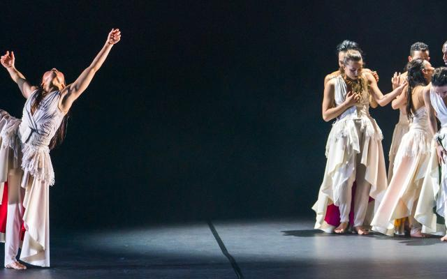 Phoenix Dance Theatre and Opera North's The Rite of Spring choreographed by Jeanguy Saintus © Tristram Kenton