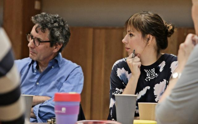 Anna Ridler with Prof, Max Silverman and panellists at the DARE Memory Sandpit, September 2018